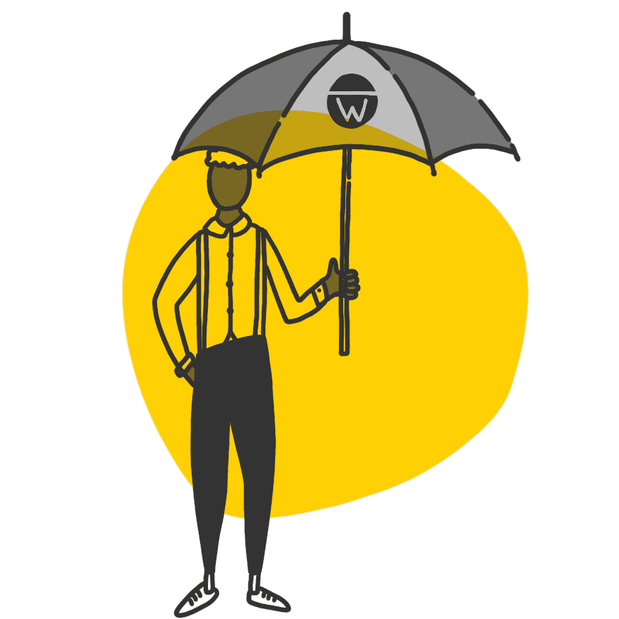 A person with an umbrella