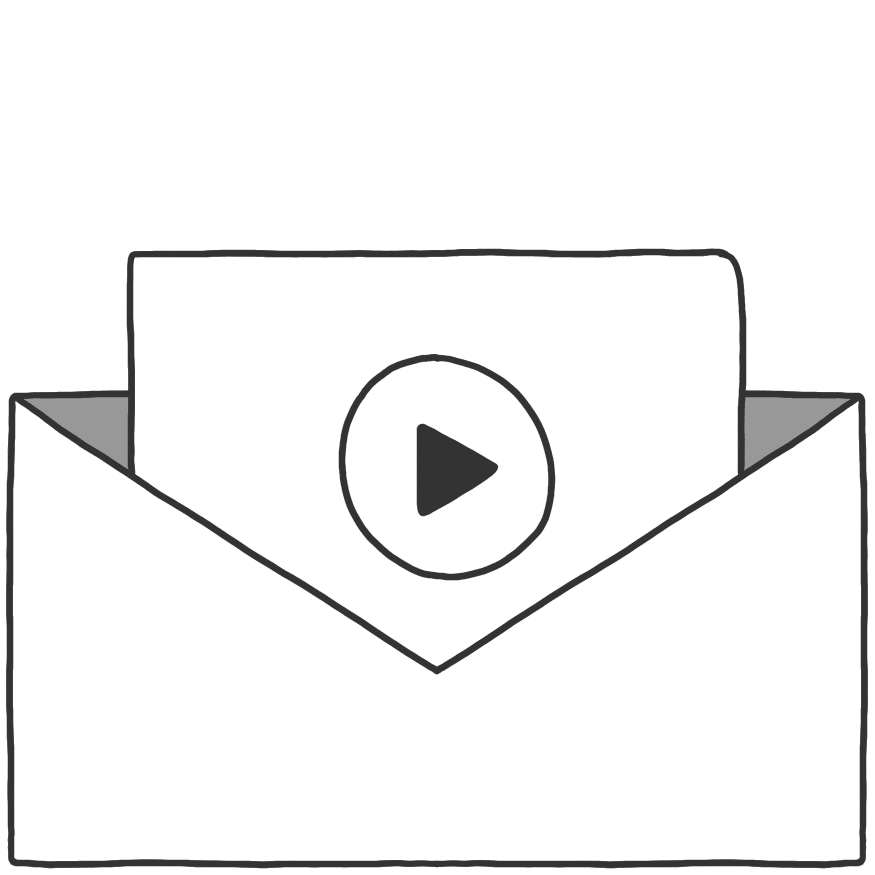 A video in an envelope