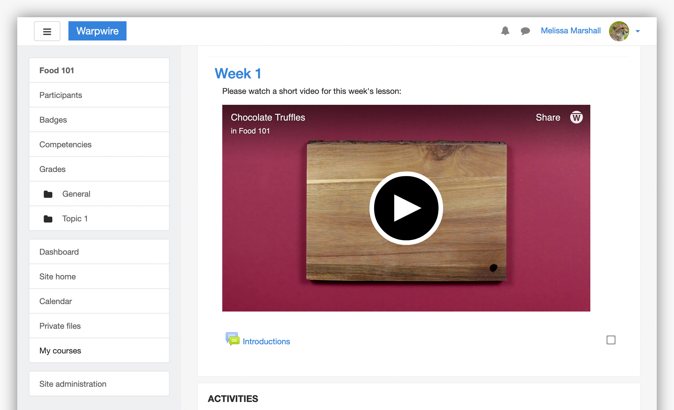 Read more about Warpwire video platform in Moodle