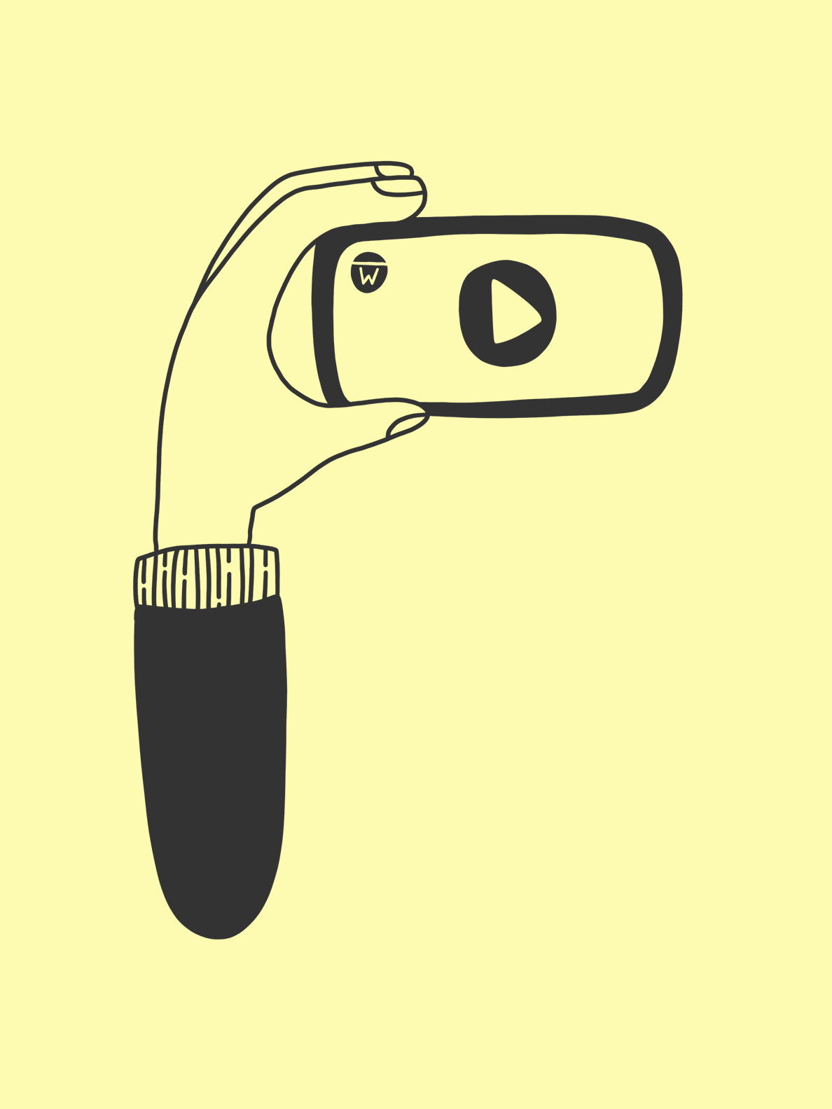A hand holding a phone