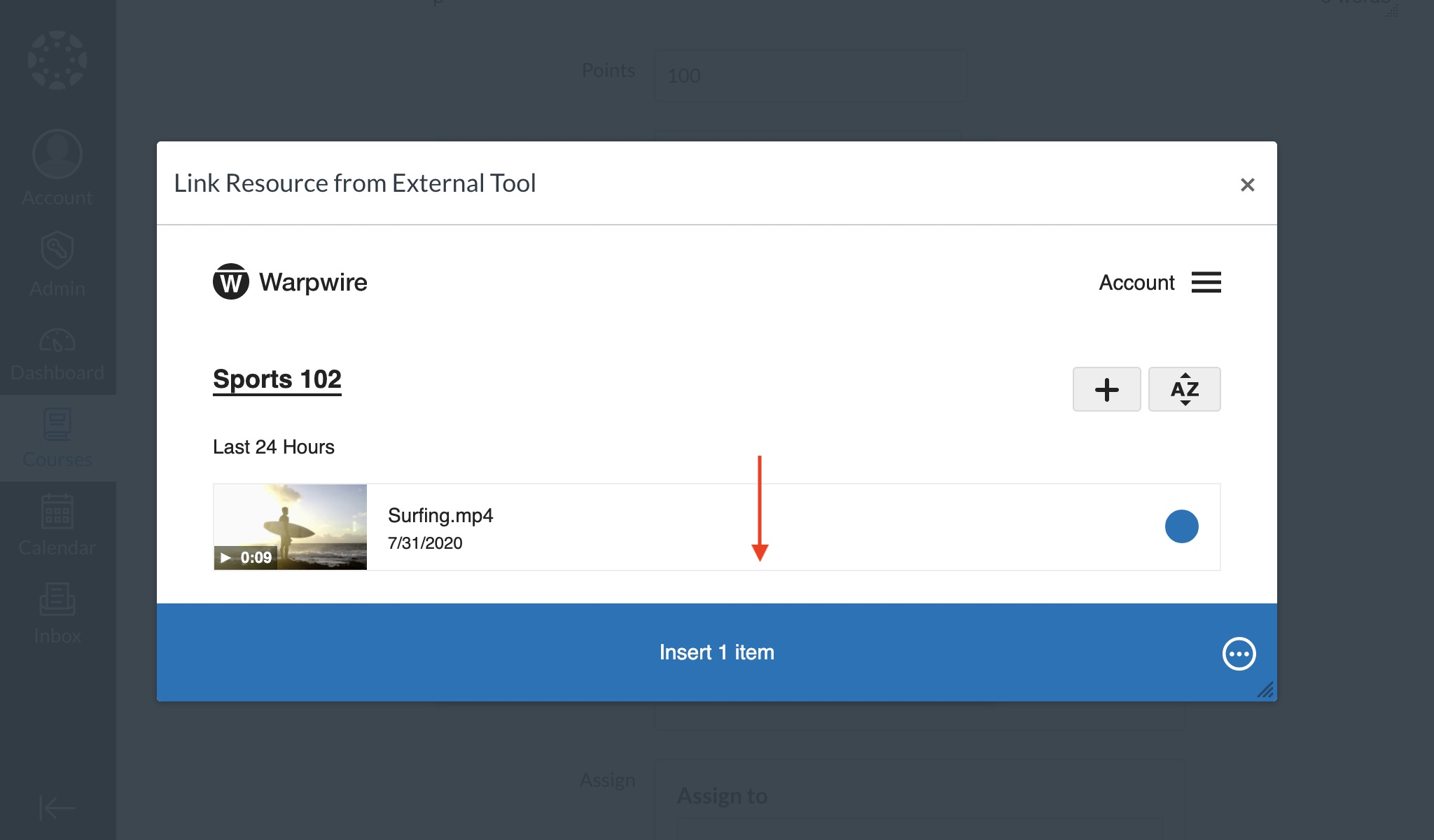Insert your media with the new embed settings saved.