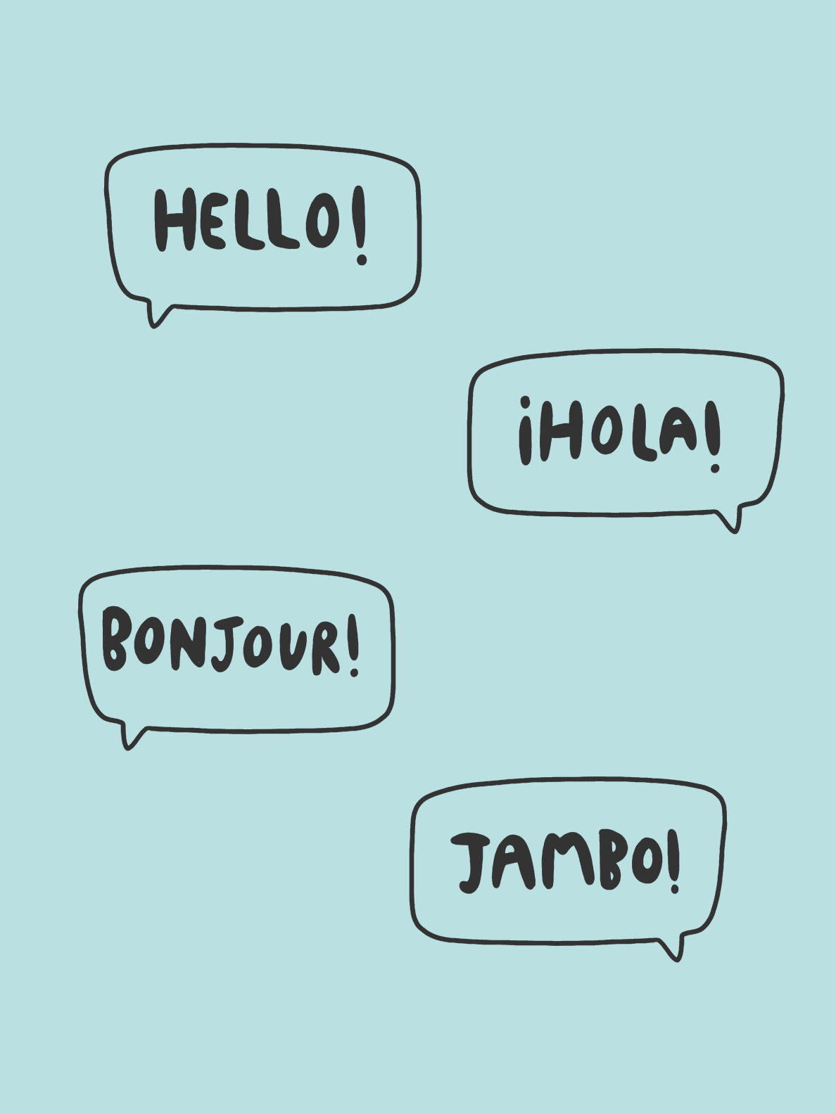 Hello in 4 languages